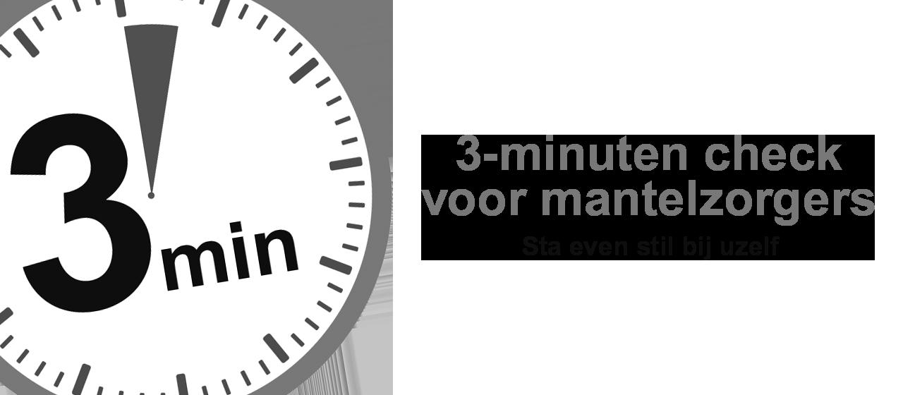 3-minuten check voor Mantelzorgers