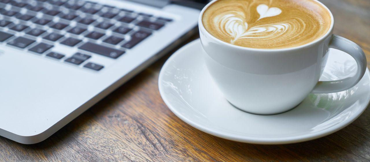 Digitaal koffiemoment